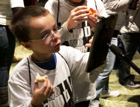 Orange County Public School student using taste buds and technology to choose school menu items. (Photo: Business Wire)