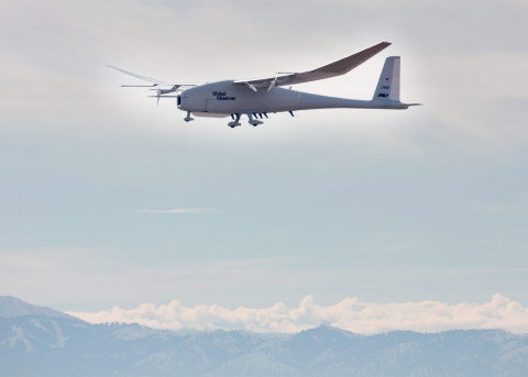 Lockheed Martin Corporation and AeroVironment agree to pursue international opportunities for AeroVironment's Global Observer high altitude long endurance unmanned aircraft system. (Photo: Business Wire)