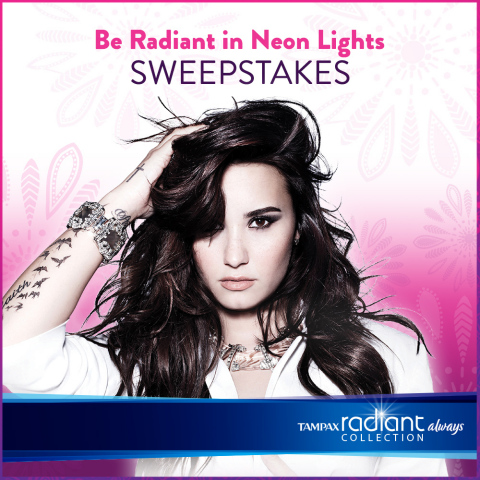 The Radiant Collection, from Always® and Tampax®, offers young women the opportunity to win a two-night VIP trip to see Demi Lovato's Neon Lights concert in style. (Photo: Business Wire)