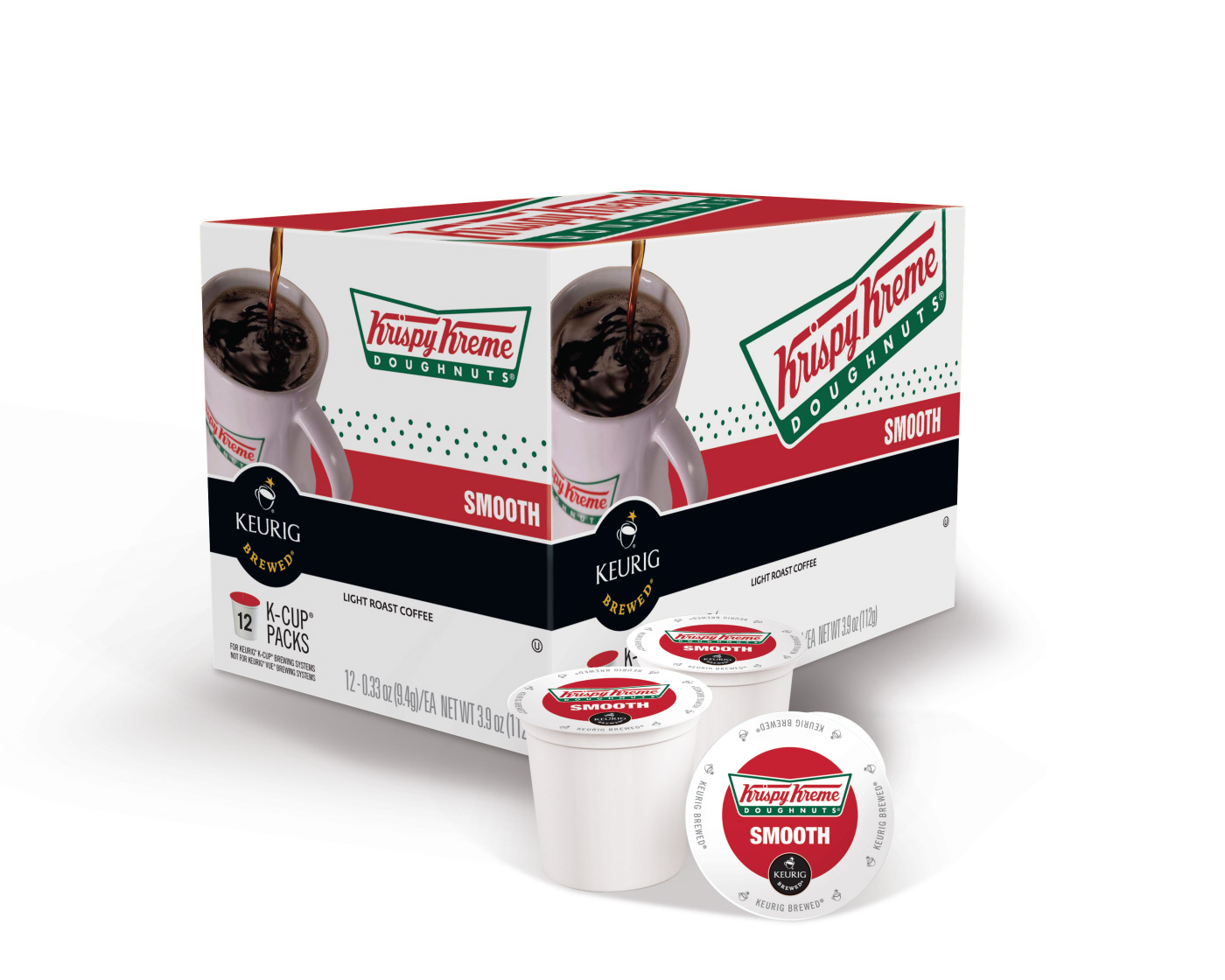 GMCR and Krispy Kreme plan to launch Krispy Kreme coffees, Smooth and Decaf, in K-Cup(R) packs for Keurig(R) brewers by the end of 2014. (Photo: Business Wire)