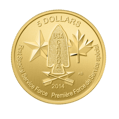 Illustration of 1/10th oz. First Special Service Force Gold Bullion Coin (Photo: Business Wire)