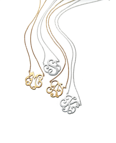Shop Macy's and macys.com for a variety of lovable gifts this Valentine's Day; Giani Bernini Initial Pendants in Sterling Silver or 24k Gold over Sterling Silver $100 (Photo: Business Wire)