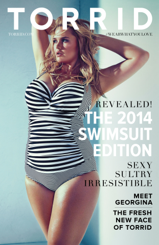 Torrid introduces Georgina - its sexy 2014 Swimsuit Collection cover girl and the new face of Torrid. (Photo: Business Wire)