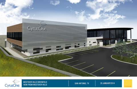 CyrusOne's second San Antonio data center will have 180,000 square feet of raised floor space along with 22,000 square feet of Class A office space. (Graphic: Business Wire)