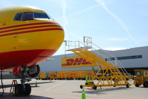 DHL Global Forwarding's Cincinnati hub will operate weekly flights six times per week toward Brussels offering reserved space for Life Sciences products (Photo: Business Wire)