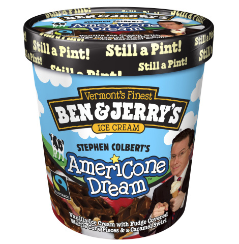Stephen Colbert's AmeriCone Dream is celebrating its 7th Anniversary on February 14, 2014. (Photo: Business Wire)