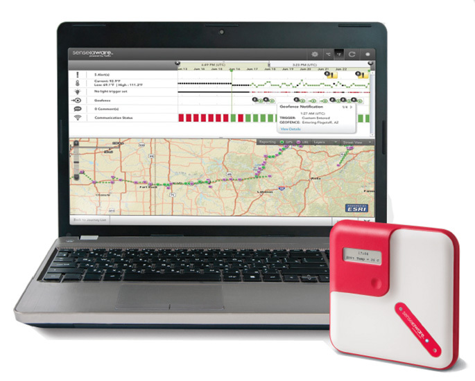 SenseAware 2000 device and application (Photo: Business Wire)