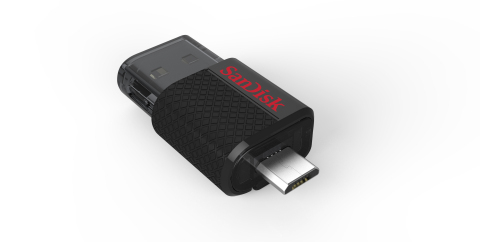 The SanDisk Ultra Dual USB Drive features both a micro-USB and a USB 2.0 connector for Android(TM) smartphone and tablet users who need an easy way to move content such as photos and videos from their mobile devices. (Photo: Business Wire)