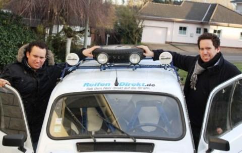 """Das deutsche Rallye-Team """"DFHI/HTW Saar"""" geht mit den Brüdern Pierre und Pascal Hoffmann an den Star ..."""