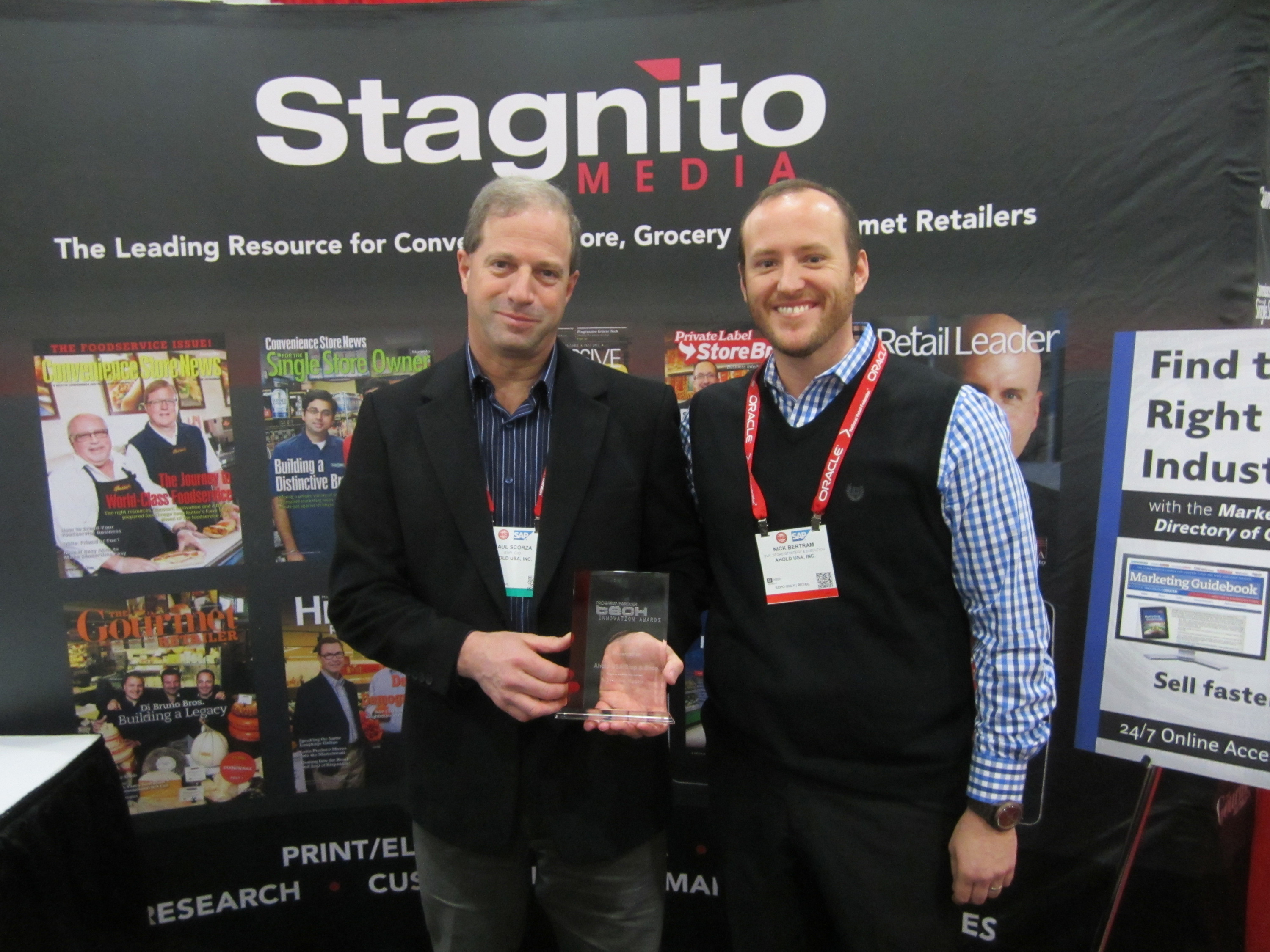 Pictured from Left to Right: Paul Scorza, Ahold USA CIO, and Nick Betram, Ahold USA SVP, Store Strategy and Execution. (Photo: Business Wire)