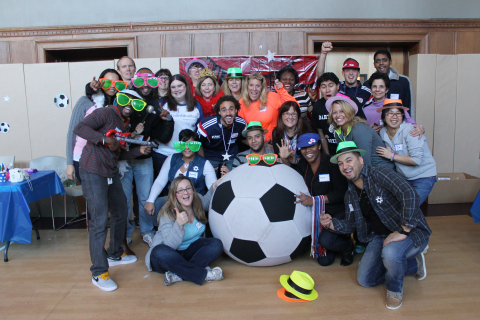 UnitedHealthcare of New England and the New England Revolution brought a carnival-themed party to the patients and families at Franciscan Hospital for Children in Brighton (Photo: Project Sunshine).