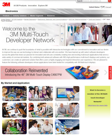 3M Multi-Touch Developers Network helps make the connection between 3M's customers and multi-touch developers. (Photo: Business Wire)