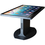 Ideum Platform 46 Tables combine Ideum's innovative design and build-quality with 3M's high-performance, multi-user 46-inch 3M Multi-Touch Display C4667PW display to create a rugged turnkey touch table with ultra-fast touch response time for fluid multi-touch interaction. (Photo: Business Wire)