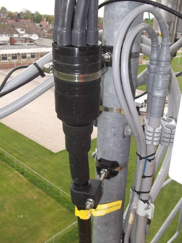 The HELIAX FiberFeed Direct cabling solution mates hybrid fiber and power cable to any remote radio unit, reducing the number of overall connections and cutting installation time by half. (Photo: Business Wire)