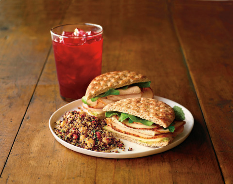The Herb Roasted Turkey Sandwich is made with turkey that is slow cooked for 8-10 hours and complemented with Monterey jack cheese and a homemade pumpkin seed pesto aioli. (Photo: Business Wire)