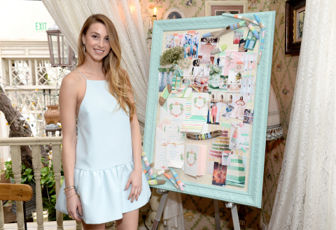 "Whitney Port with one of four inspiration boards at Wedding Paper Divas Presents: ""Whitney Port's Lo ..."