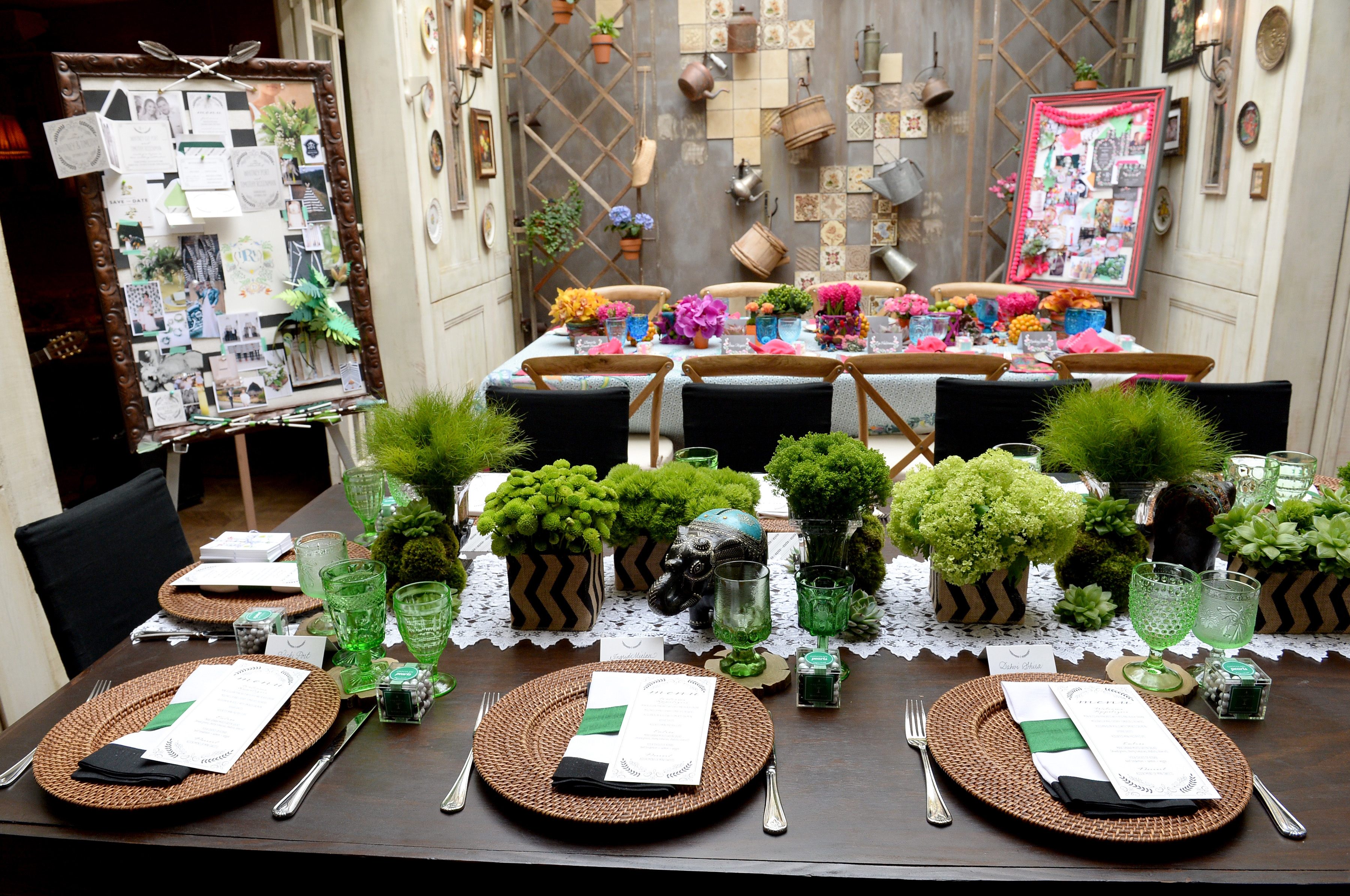 "Paper goods and table decor are showcased at Wedding Paper Divas Presents ""Whitney Port's Love Story"" at Mari Vanna Los Angeles on February 11, 2014 in West Hollywood, California. (Photo by Michael Kovac/Getty Images for Wedding Paper Divas)"