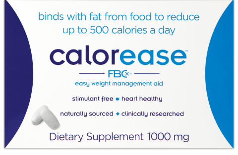 Calorease with FBCx 180-count pack (Graphic: Business Wire)