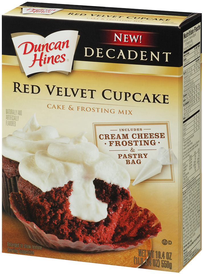 Duncan Hines Decadent Red Velvet Cupcakes