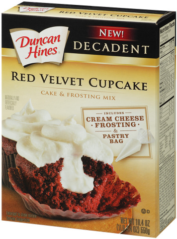 Duncan Hines Decadent Red Velvet Cupcakes