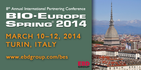 BIO-Europe Spring(R) will take place in Turin, Italy, March 10–12, 2014.