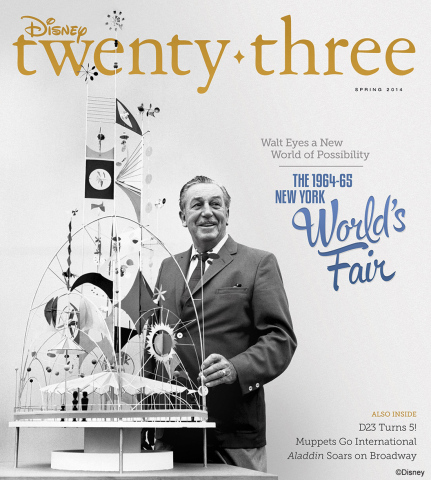"The Spring 2014 issue of ""Disney twenty-three"" celebrates Disney's contributions to the 1964-65 Worl ..."