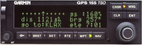 Garmin GPS 155 TSO (Photo: Business Wire)