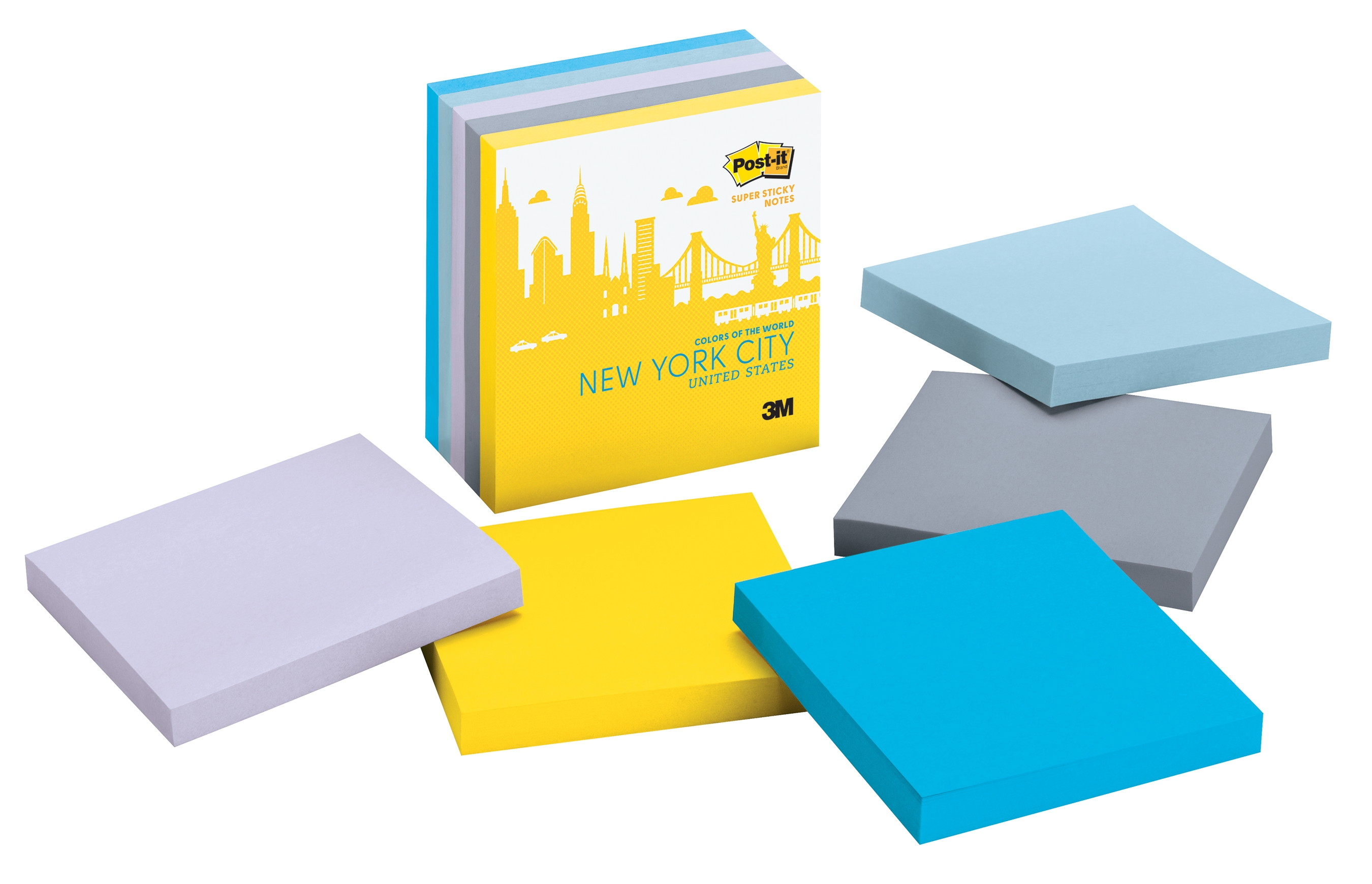 The New York Color Collection from the new Post-it Brand Colors of the World Collection (Photo: Business Wire)