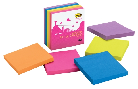The Rio de Janeiro Color Collection from the new Post-it Brand Colors of the World Collection (Photo: Business Wire)