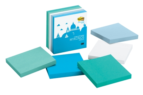 The Mykonos Color Collection from the new Post-it Brand Colors of the World Collection (Photo: Business Wire)