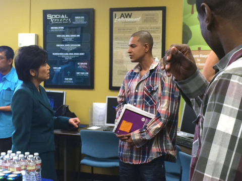 U.S. Congresswoman Judy Chu meets with Westwood College students. (Photo: Business Wire)
