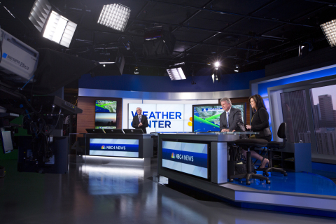 NBC4's Evening News Team on the station's set located on the Universal Lot. L-R: Fritz Coleman, Chuck Henry and Colleen Williams. (Photo: Business Wire)