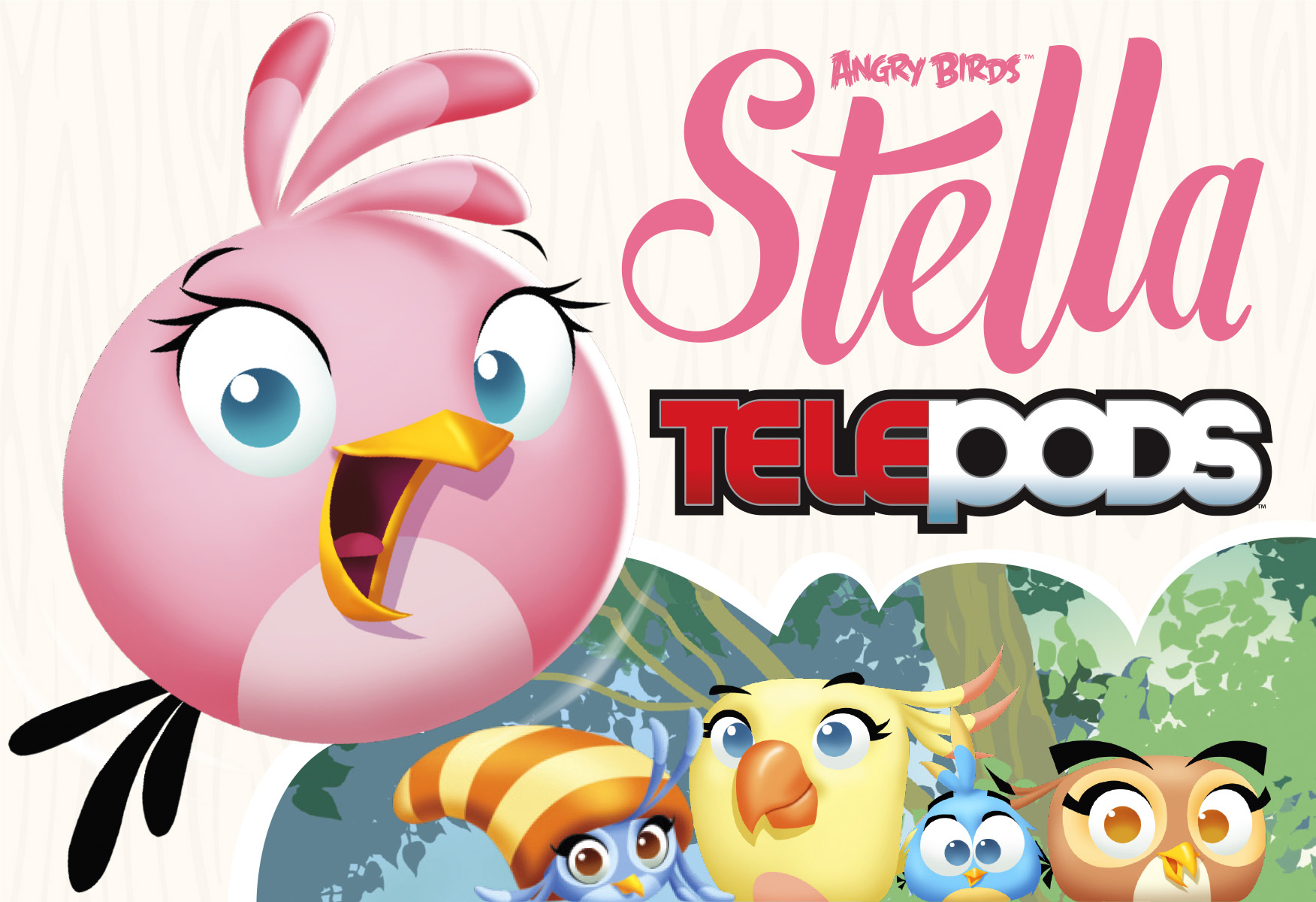 Hasbro Announces New ANGRY BIRDS™ STELLA TELEPODS™ Line Based on the