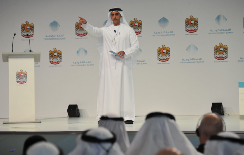 His Highness Sheikh Saif bin Zayed at the second annual UAE Government Summit (Photo: Business Wire)