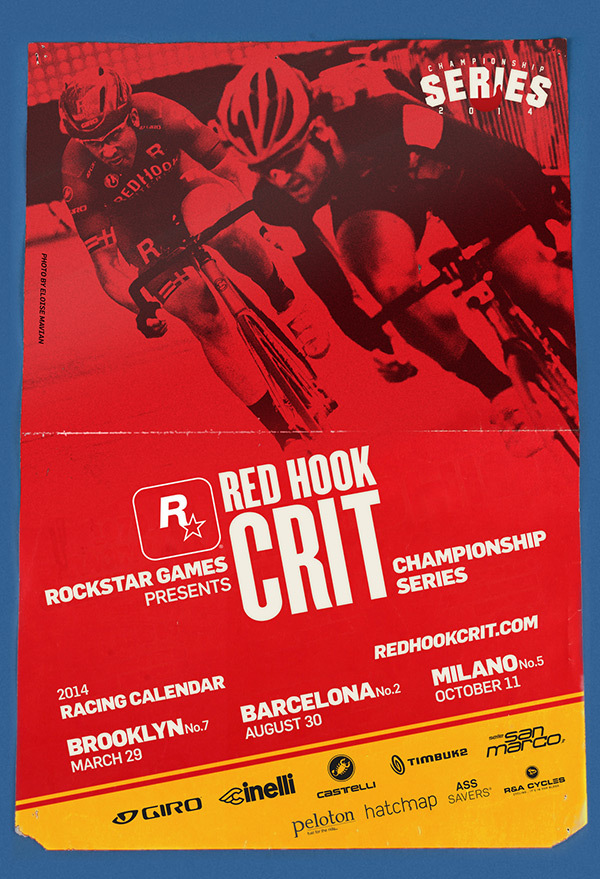 Rockstar Games is proud to once again present the Red Hook Criterium Championship Series (RHC) in 2014 as the principal sponsor. (Photo: Business Wire)