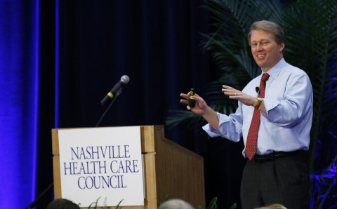 Kent Thiry, chairman and CEO, DaVita HealthCare Partners, spoke to the Nashville Health Care Council today on health care reform, integrated care, and DaVita's strategy and vision for the future. (Photo: Business Wire)