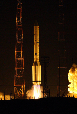 ILS Proton successfully orbited the TURKSAT 4A satellite for Turksat on February 15, 2013 from the B ...