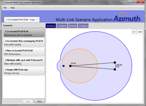 Azimuth Multi-Link Scenario Application (Graphic: Business Wire)