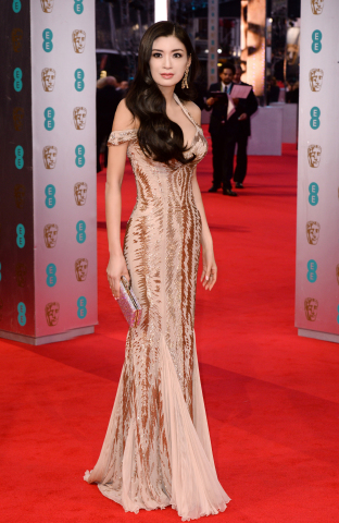 Rebecca Wang, attends the 67th Annual BAFTA Film Awards Ceremony. (