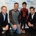"Josh Silverman, left, Executive Vice President, Disney Consumer Products, Freddie Prinze, Jr., second left, voice of Kanan on the upcoming animated TV series ""Star Wars Rebels,"" Jorge Vega, second right, in The Amazing Spider-Man 2, and actor Dane Cook, right, voice of Dusty Crophopper in Disney's animated film Planes: Fire & Rescue, help Disney Consumer Products unveil an innovative assortment of toys inspired by their content, Monday, Feb. 17, 2014, at the American International Toy Fair in New York. (Photo by Diane Bondareff/Invision for Disney Consumer Products)"