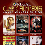 Celebrate some of Hollywood's best with the Regal Classic Film Series showcasing past award-winning films in theatres beginning February 23. Source: Regal Entertainment Group