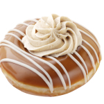 Moist, sweet and irresistible-with a hint of coffee flavors in every bite. New Krispy Kreme Mocha Kreme doughnuts and Caramel Coffee Kreme doughnuts will perk up any occasion. Krispy Kreme Lotta Latte doughnuts are available at participating Krispy Kreme US and Canadian locations now through March 30, 2014. (Photo: Business Wire)