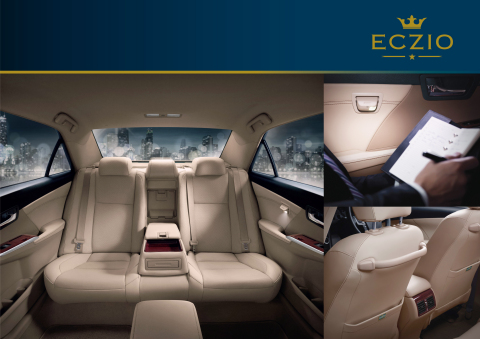 The ECZIO Premium Rear Seat Package includes first-class comfortable seating, luxurious rear interior space, and eco-friendly. (Photo: Business Wire)