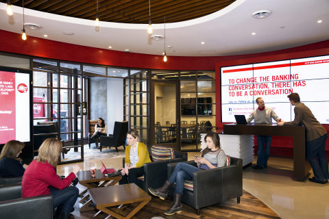 Capital One 360, the nation's largest direct bank, opens its first area Café at 799 Boylston Street in Boston's Back Bay. (Photo: Business Wire)