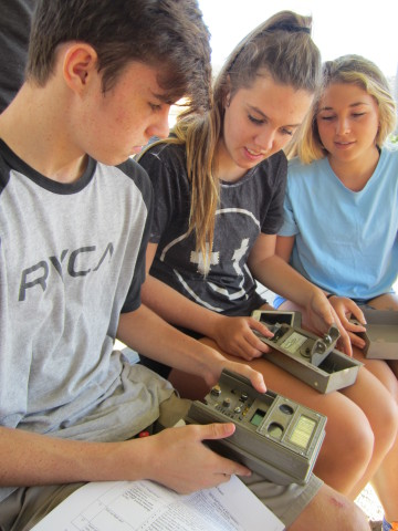 Dana Hills High School students use trapcams to study bobcat movement at the Berns Environmental Stu ...