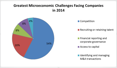 Greatest Microeconomic Challenges Facing Companies in 2014 (Graphic: Business Wire)
