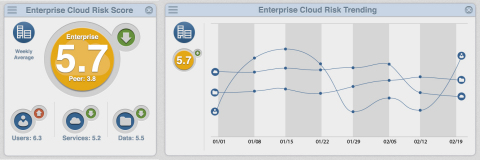 The Skyhigh Enterprise CloudRisk Dashboard (Graphic: Business Wire)