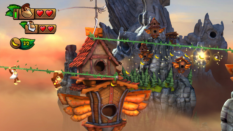 Donkey Kong Country: Tropical Freeze heralds the exciting return of fan-favorites Dixie Kong and Funky Kong, as well as Cranky Kong, who is a playable character for the first time in series history. (Photo: Business Wire)