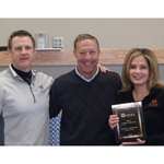 Westlake Financial Services Remarketing presents Kansas City Independent (KCI) Auto Auction with a plaque of recognition as the 2013 Auction of the Year. From left to right: KCI General Manager Doug Doll, Westlake Regional Auction Rep Mike O'Brien, and KCI General Sales Manager Jennifer Leocardi. (Photo: Business Wire)