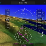 The synthetic vision display within Garmin Pilot as it appears when used in conjunction with a GDL 39 3D. (Photo: Business Wire)